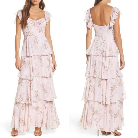 f1a4cbbf07 WAYF Abby off shoulder tiered dress NEW pink 0454.  M_5b560e759539f7d76e87cf5b